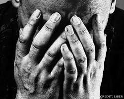 grief in hands